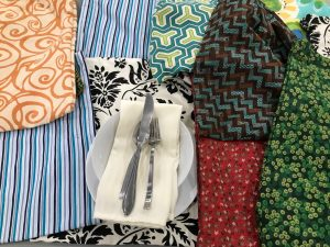 Image of handmade fabric feast bundles.